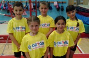 Devon Youth Games Gymnastics team