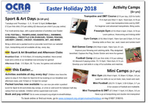 Image: OCRA Easter Holiday Programme 2018