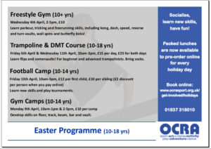 Image: OCRA Easter Teenage Programme Easter 2018