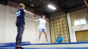 Image: Natalie trampolining SNAP